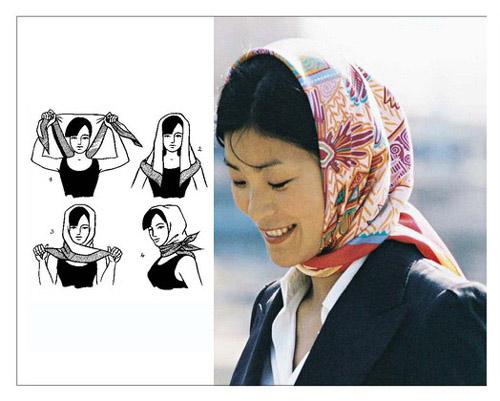 завязать платок на голове