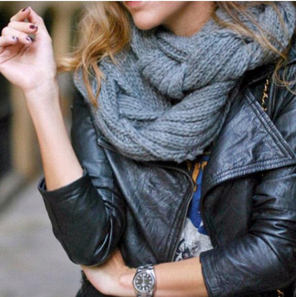 модный шарф хомут