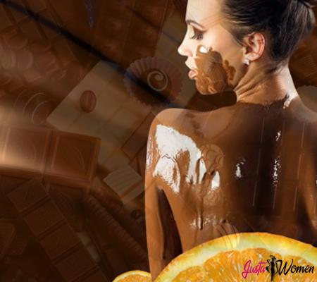 шоколадная маска для лица и тела