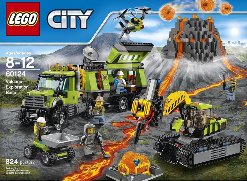 Конструктор Лего Вулкан